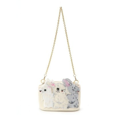 【SALE/60%OFF】franche lippee franche lippee/ヨリソイウサギツブツブBAG フランシュリッペ バッグ バッグその他 ホワイト ピンク ブラック【送料無料】