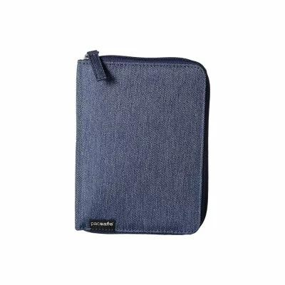 パックセイフ Pacsafe パスポートケース RFIDsafe LX150 RFID Blocking Zippered Passport Wallet Denim