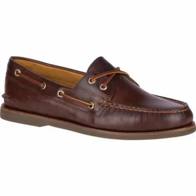 スペリー Sperry Top-Sider デッキシューズ Gold Cup A/O 2-Eye Boat Shoe Brown Full Grain Leather
