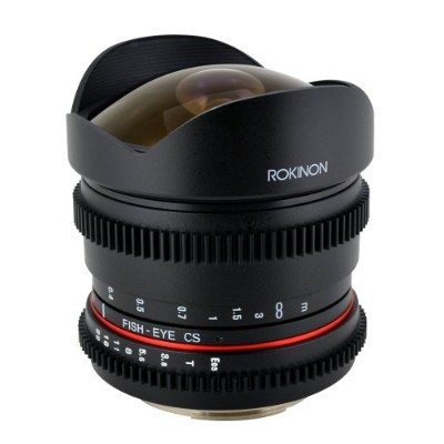 Rokinon RK8MV-N 8mm T3.8 Cine Fisheye レンズ for Nikon ビデオ DSLR with Declicked アパーチャー (海外取寄せ品)