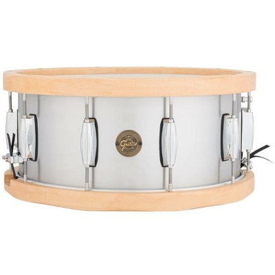"Gretsch Drums Aluminum / Wood Hoop Snare S1-6514A-WH (14""x6.5"")《スネアドラム》【送料無料】【ONLINE STORE】"