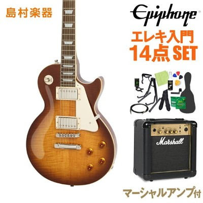 Epiphone Limited Edition Les Paul Standard Plustop PRO Desertburst エレキギター 初心者14点セット マーシャルアンプ付き...