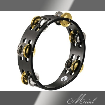Meinl マイネル Compact Wood Tambourine 2rows Steel/Solid Brass [CTA2M-BK] 木製タンバリン【ONLINE STORE】