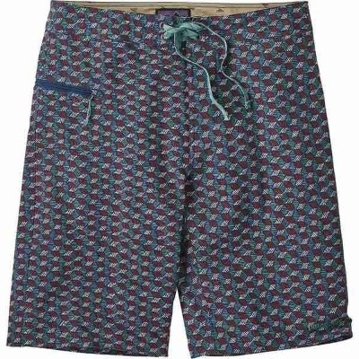 【当日出荷】 パタゴニア メンズ 水着 Stretch Wavefarer 21in Board Short - Men's Batik Hex Small Multi/Superior Blue ...