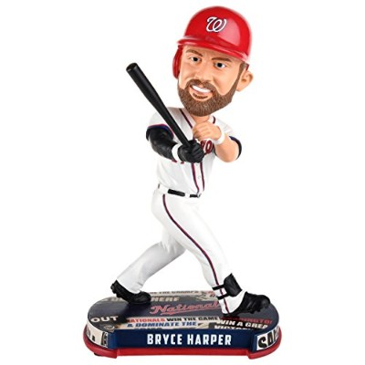 ボブルヘッド バブルヘッド 首振り人形 ボビンヘッド BOBBLEHEAD Forever Collectibles MLB Washington Nationals Mens Washington...