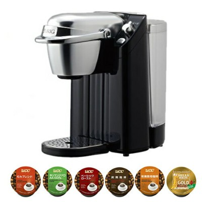 【K-Cup コーヒー6個セット】キューリグ BS-200K ネオブラック ネオトレビエ 家庭用抽出機 [K-Cupパック専用コーヒーマシン][BS200K][KEURIG]