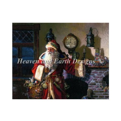 Heaven And Earth Designs クロスステッチ刺繍図案 輸入 HAED 上級者 Dean Morrissey クリスマスの父 Father Christmas DM 全面刺し