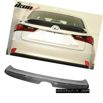 エアロパーツ Fits 14-16 Lexus IS250 XE30 TR-D Style Trunk Spoiler Wing - Carbon Fiber (CF) フィット14...