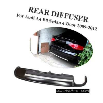 エアロパーツ Rear Bumper Lip Diffuser Trunk Spoiler fit for Audi A4 B8 Non-Sline 09-12 Black アウディA4...
