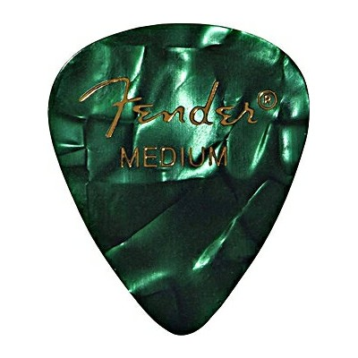 FENDER PICK(フェンダーピック) 「PREMIUM Celluloid 351 shape[Green Moto Thin]×48枚セット」 【送料無料】【smtb-KD】【RCP】:-p5
