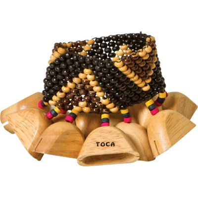 TOCA Wooden Rattles with Wrist/Ankle Strap T-WRA トカ 手首足首用ウッドラトル