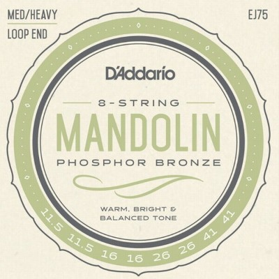 【DT】D'Addario マンドリン弦 EJ75 Phosphor Bronze Medium/Heavy 011.5-040