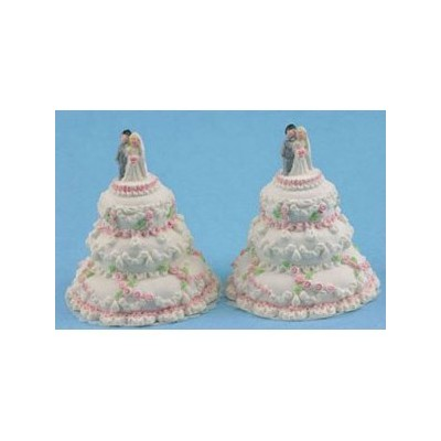 Dollhouse WEDDING CAKE/2PC