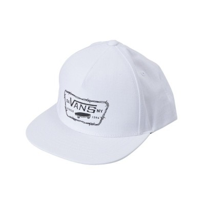 【VANSアパレル】 ヴァンズ キャップ(帽子) FULL PATCH BARBED SNAPBACK VN0A36YVWHT 18SP WHITE