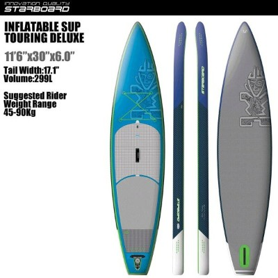 """SUP インフレータブル SUP 11'6""""x30"""" ツーリング デラックス STARBOARD INFLATABLE SUP TOURING DELUXE 11'6""""x30"""" 2016 サップ S..."""