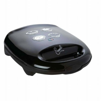 プラットケーキ&パイメーカーEmeril by T-fal SM2205004 Electric Nonstick Plates Cake and Pie Maker Black 家電