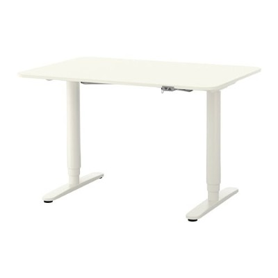 【IKEA/イケア/通販】 BEKANT ベカント デスク 昇降式, ホワイト(a)(S19222553)【代引不可商品】