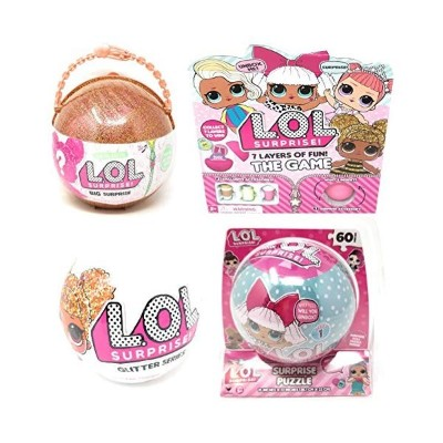 LOLサプライズ グッズ フィギュア ドール 人形 Cardinal Games L.O.L. Surprise! 7 Layers of Fun The Game, Glitter Ball...
