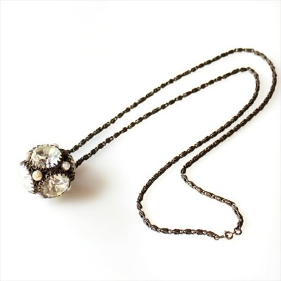 Michel's Vintage & Anteque Neckrace mirror ballヴィンテージ&アンティークビーズネックレス ミラーボール パール 球体