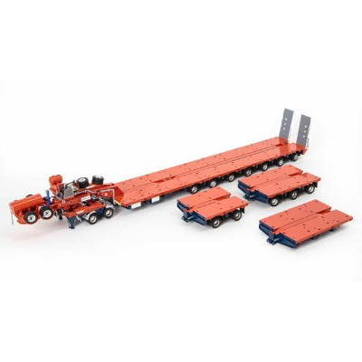 Drake 2x8 Dolly and 7x8 Steerable Low Loader Trailer PLUS Accessory Pack in Orange and Blue: 2x8...