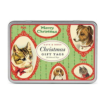 Cavallini&Co 2017年クリスマス限定 ギフトタグセット キャット&ドッグCats&Dogsスクラップブッキング・ラッピング・クリスマス・下げ札