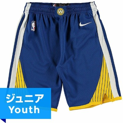 NBA スウィングマンショーツ(ジュニア ブルー)ウォリアーズ Nike Golden State Warriors Youth Royal/Gold Swingman Shorts - Icon...