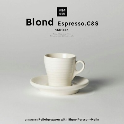 Design House Stockholm/BLOND ブロンド エスプレッソカップ&ソーサーDesigned by Reliefgruppen with Signe Persson-Melin...