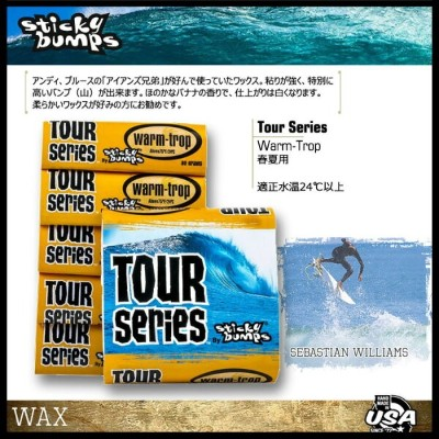 STICKY BUMPS TOUR SERIES 【WARM/TROPICAL】【春夏用】【サーフィン ワックス】【スティッキーバンプス】【日本正規品】715005