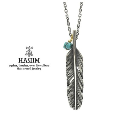 HARIM ハリム HRP120 OX Feather Necklace /S 【CENTER】Silver シルバー フェザー ネックレス メンズ レディース
