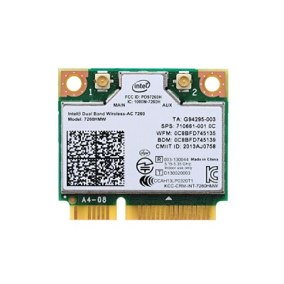 インテル Intel Dual Band Wireless-AC 7260 デュアルバンド 2.4/5GHz 802.11ac 最大867Mbps + Bluetooth 4.0 PCIe Mini...