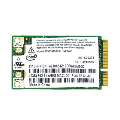 IBM純正 42T0853 42T0855 インテル Intel PRO/Wireless 3945ABG 802.11a/b/g PCIe Mini 無線LANカード
