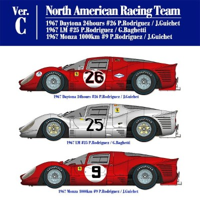 フェラーリ 412P Ver.C North American Racing Team【MFH K56441/12】