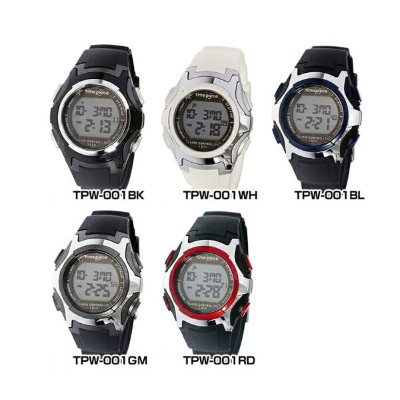 Time Piece タイムピース多機能 電波 ソーラー クオーツ TPW-001TPW-001BKTPW-001WH TPW-001BLTPW-001GMTPW-001RD国内正規品 男女兼用...