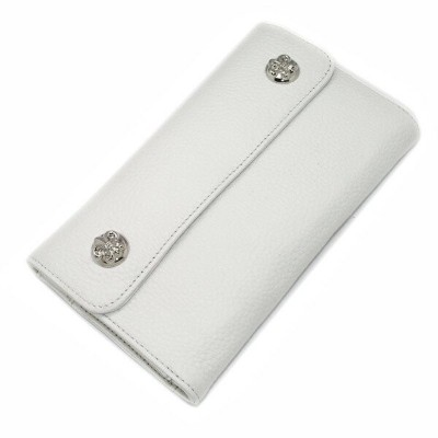CHROME HEARTS(クロムハーツ)ウェーブ・フレアボタン・ホワイトウォレット Wave Wallet White Leather w/BS Fleur Buttons l chromehear...