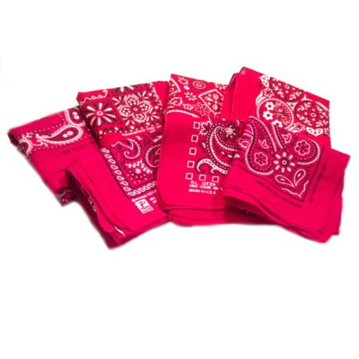 60'S〜70'S VINTAGE BANDANA(60年代〜70年代・米国製・ヴィンテージ・バンダナ)/made in U.S.A./assort red