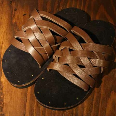 "DRESS HIPPY""LEATHER SANDAL""model:CBROWN【DRESS HIPPY】(ドレスヒッピー)正規取扱店(Official Dealer)Cannon Ball..."