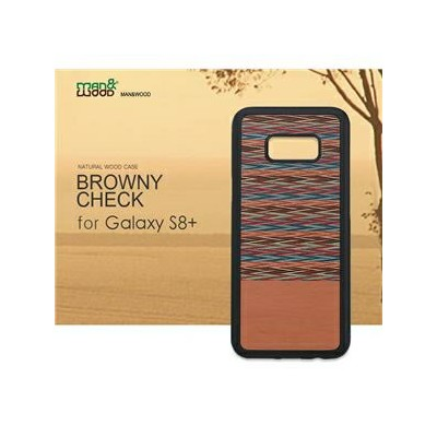 その他 Man&Wood Galaxy S8 Plus 天然木ケース Browny Check ds-1941751