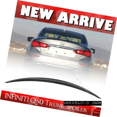 エアロパーツ D Style FOR INFINITI Q50 Sport Sedan Rear Trunk Spoiler Wing Painted all color DスタイルFOR...