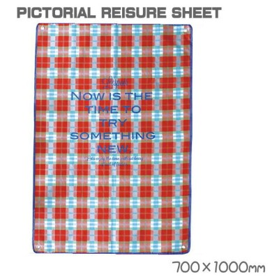 【PICTORIAL REISURE SHEET】レジャーシート(約700×1000mm)【雑貨】