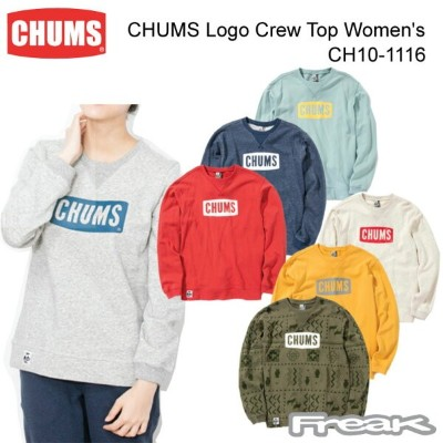 CHUMS チャムス CH10-1116 CHUMS Logo Crew Top Women's チャムスロゴクルートップ ※取り寄せ品