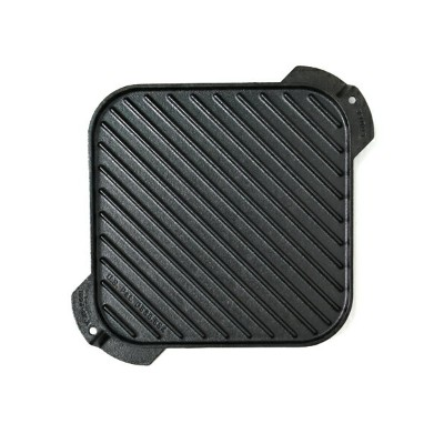 """LODGE 10.5"""" CAST IRON REVERSIBLE GRILL/GRIDDLE【LSRG3-F】"""