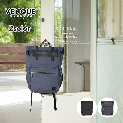 VENQUE ヴェンク CANVAS EDITION Arctic Fold Backpack 2カラー アークティック キャンバスエディション リュックサック バッグ バックパック 本革 レザー...