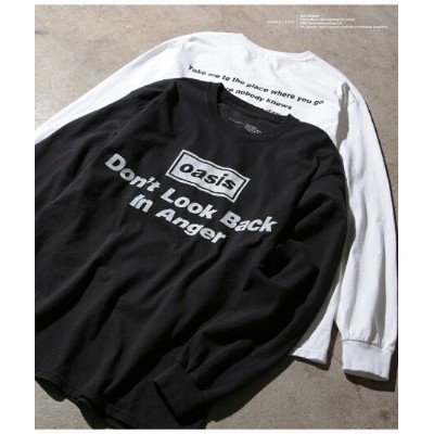 ADAM ET ROPE' HOMME 【oasis for ADAM ET ROPE'】SONG LYRICS T-shirt(長袖) アダムエロペ カットソー【送料無料】