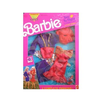 Barbie Day To Night Fashions AUTUMN SPARKLE 2 Fashion Set - Easy To Dress (1991 Arco Toys, Mattel)