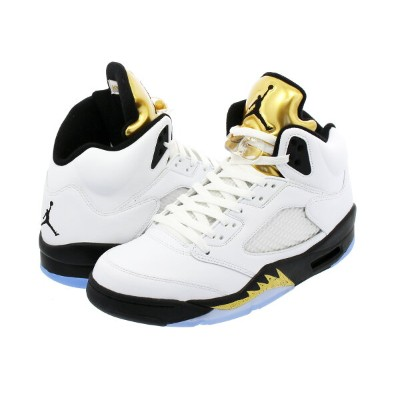 NIKE AIR JORDAN 5 RETRO 【OLYMPIC】 ナイキ エア ジョーダン 5 レトロ WHITE/BLACK/METALLIC GOLD COIN 136027-133
