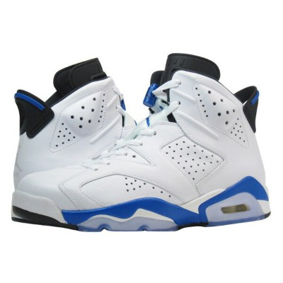 NIKE AIR JORDAN 6 RETRO 【SPORT BLUE】 ナイキ エア ジョーダン 6 レトロ WHITE/BLUE 384664-107