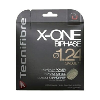 X-ONE バイフェイズ ( X-ONE BIPHASE )[ 118 / 124 / 130 ]【 テクニファイバー / Tecnifibre 】【 ラケット 購入者用 ガット 】