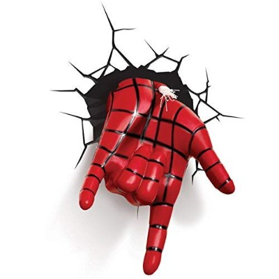 3D Light FX Marvel Spiderman Hand 3D Deco LED Wall Light [並行輸入品]