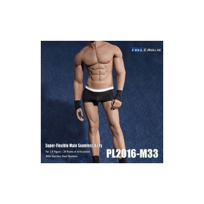 【TBLeague】PL2016-M33 male super flexible seamless body with metal skeleton TBリーグ 1/6スケール シームレス男性ボディ...