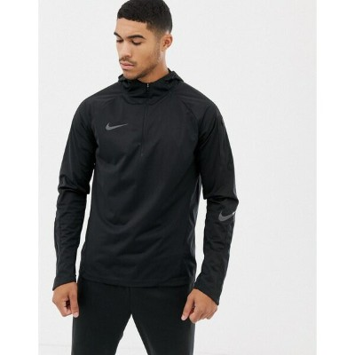 ナイキ メンズ ジャケット&ブルゾン アウター Nike Football Squad Shield Half Zip Jacket In Black AA9612-010 Black